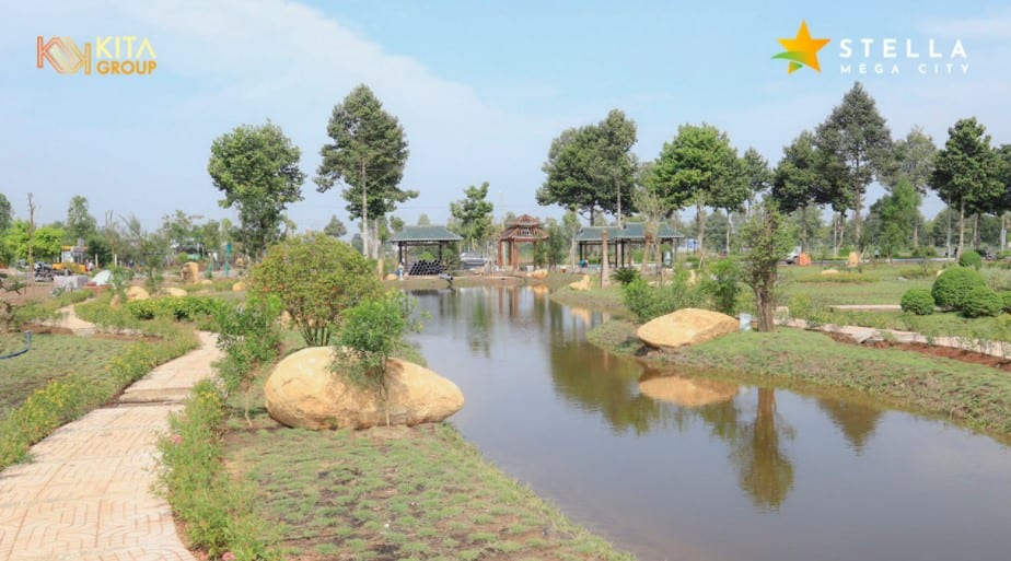Stella Mega City - Công viên Zen Garden ở ngay cổng chào.