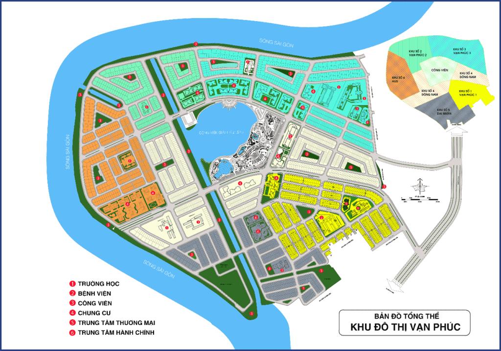 Mặt bằng tổng thể Vạn Phúc City