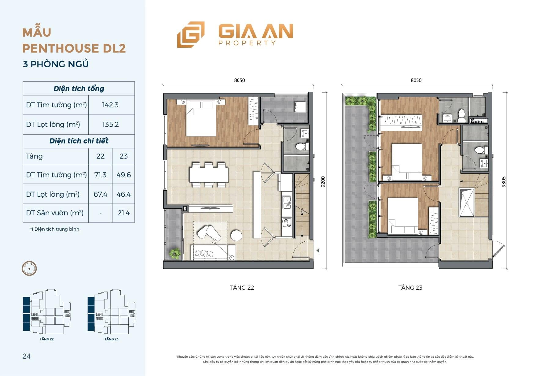Can ho Penthouse Duplex DL2 3PN