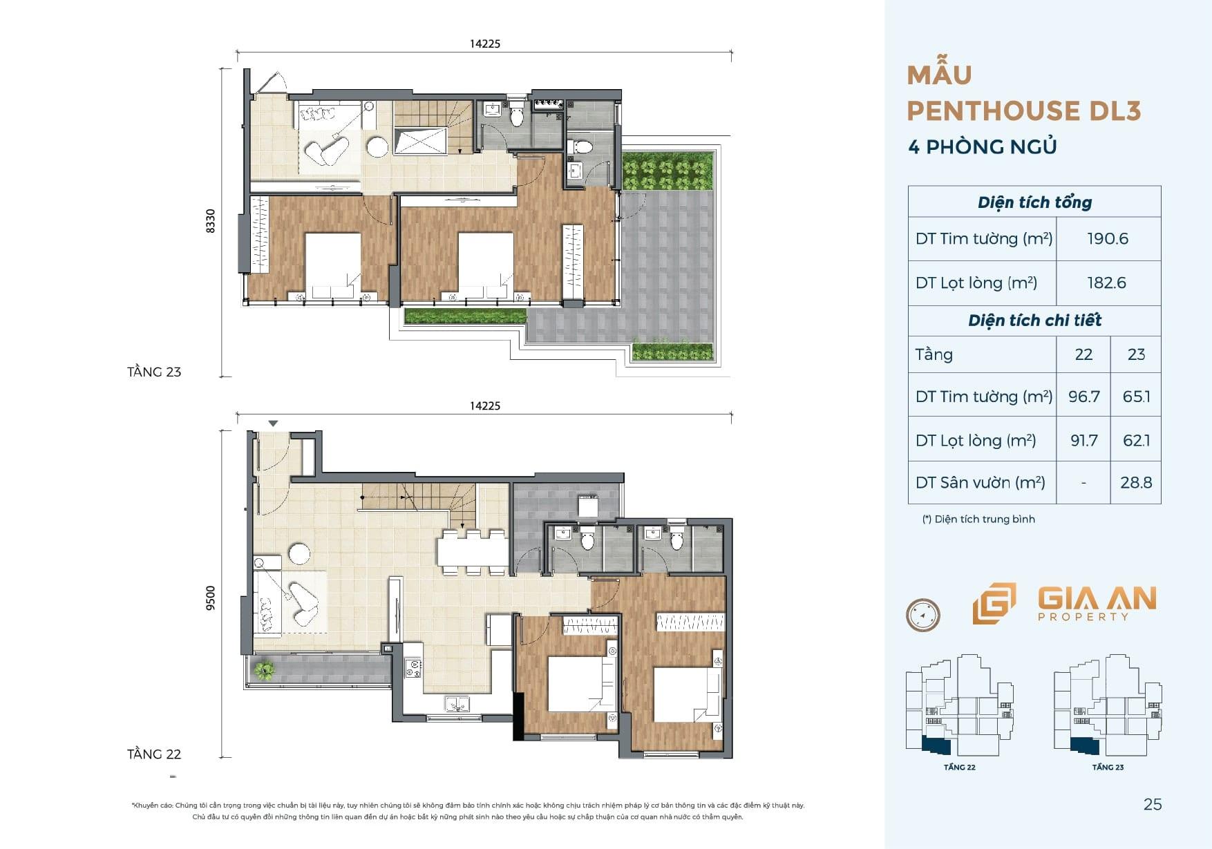 Can ho Penthouse Duplex DL3 4PN