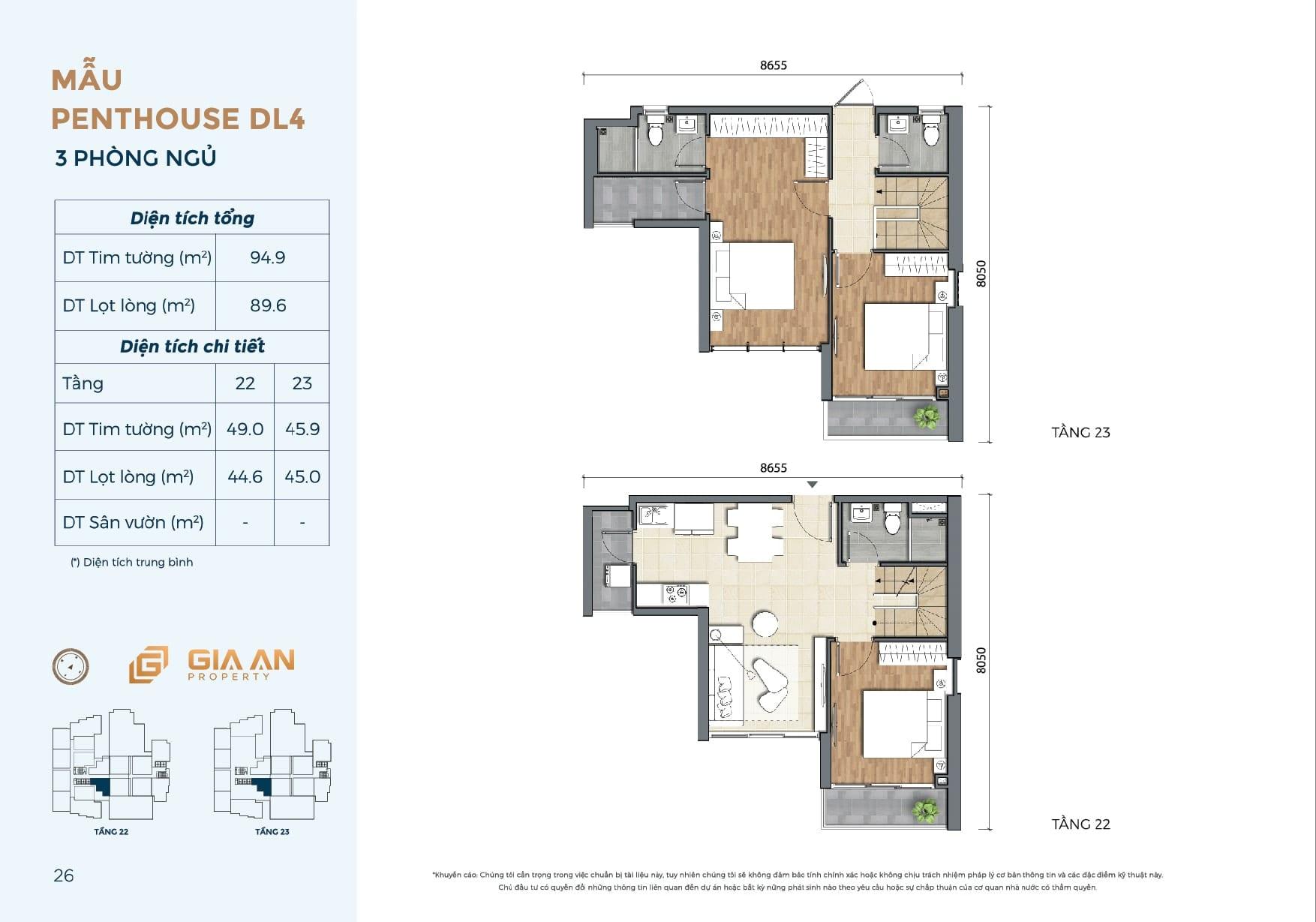 Can ho Penthouse Duplex DL4 - 3PN