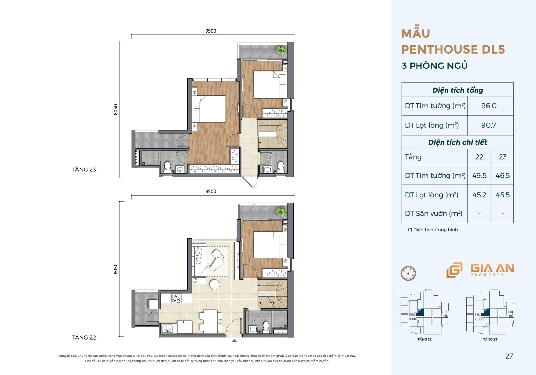 Can ho Penthouse Duplex DL5 - 3PN