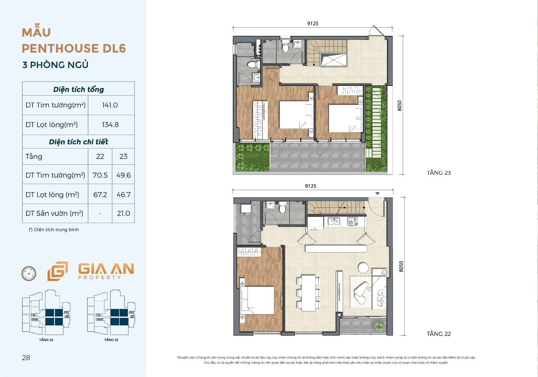 Can ho Penthouse Duplex DL6 - 3PN