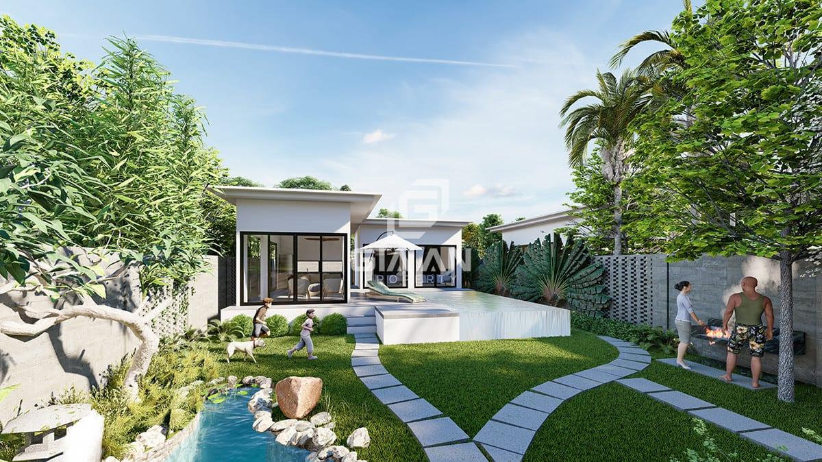 Mỗi căn nhà vườn Garden House 2 đều sở hữu một khu vườn bao quanh.