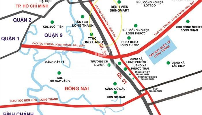 Sơ đồ dự kiến cao tốc Biên Hòa - Vũng Tàu