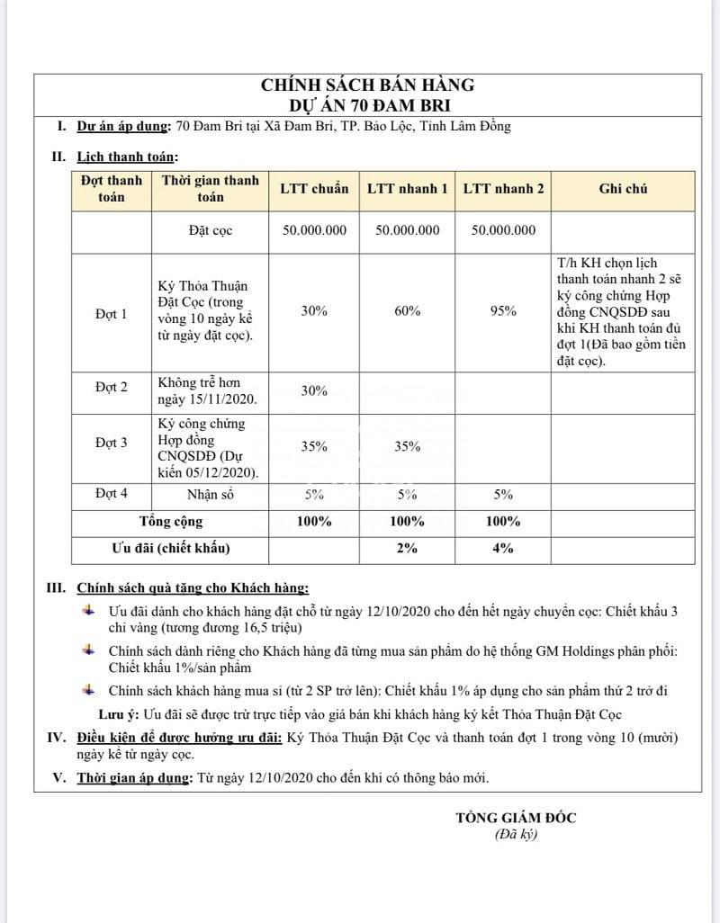 Thông tin về các dự án đất nền Bảo Lộc - Lâm Đồng