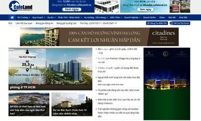 trang web bất động sản miễn phí