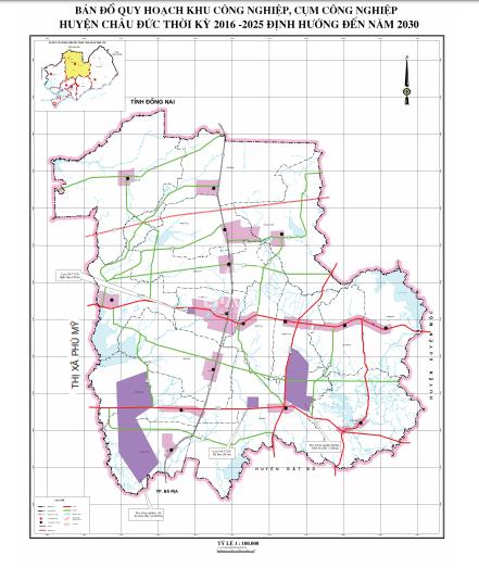 Quy hoạch KCN tại huyện Châu Đức