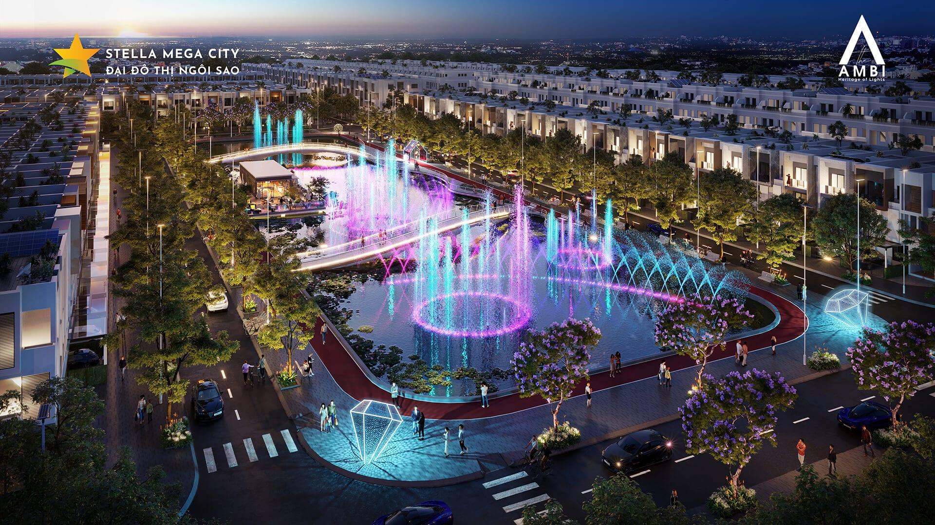 Hồ ánh sáng và công viên nhạc nước đầu tiên tại Cần Thơ