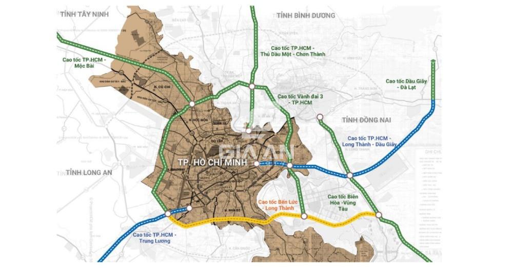 Bản đồ tuyến Dầu Giây - Đà Lạt