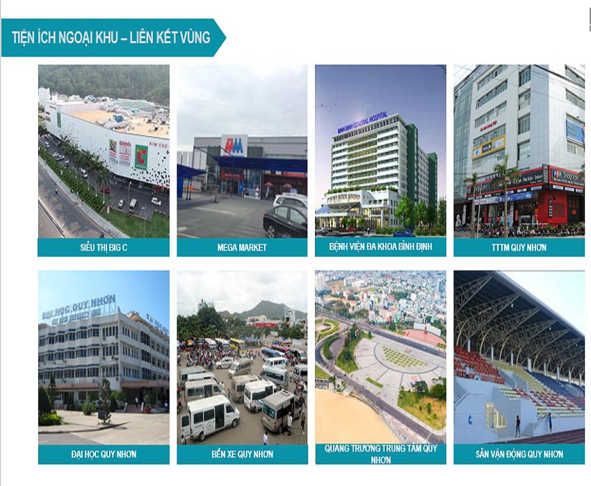 Calla Apartment kết nối điểm nổi tiếng Quy Nhơn