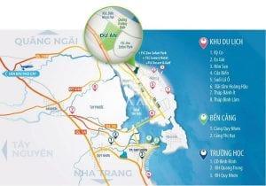 Dự án toạ lạc tại vị trí vàng thành phố Quy Nhơn