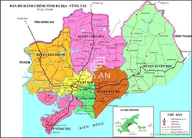 Vị trí huyện Châu Đức tỉnh Bà Rịa – Vũng Tàu